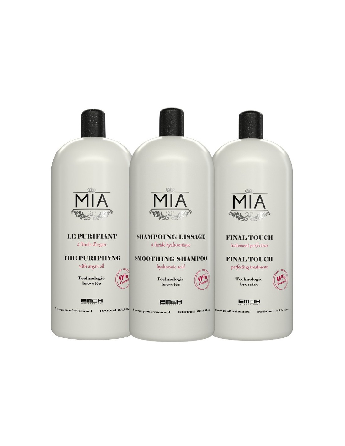 shampoing lissage mia kit 1000ml lissage br silien. Black Bedroom Furniture Sets. Home Design Ideas